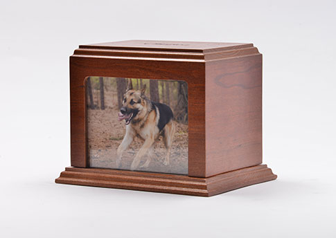 Elegant Photo Urn - Cherry Image
